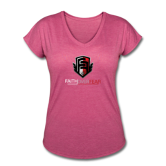 Women's V-Neck Tri-Blend T-Shirt by Rennie Curran
