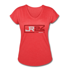Women's V-Neck Tri-Blend T-Shirt by John Grant Jr