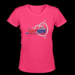 Women's V-Neck T-Shirt by Ian James