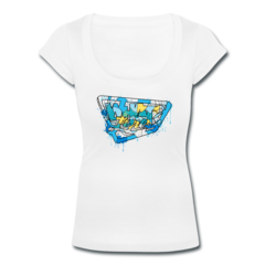 Women's Scoop Neck T-Shirt by Micah Johnson