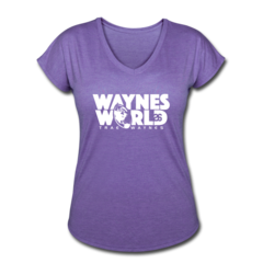 Women's V-Neck Tri-Blend T-Shirt by Trae Waynes