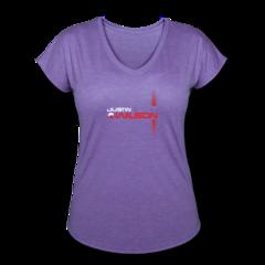 Women's V-Neck Tri-Blend T-Shirt by Justin Wilson