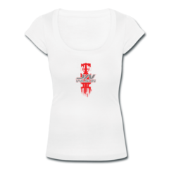 Women's Scoop Neck T-Shirt by Justin Wilson
