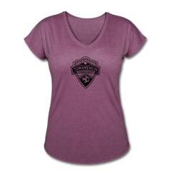 Women's V-Neck Tri-Blend T-Shirt by Towamencin Soccer Club