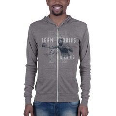 3939 Unisex Triblend Lightweight Zip Hoodie with Tear Away Label